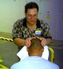 An on-site chair massage